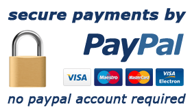 secure payments by PayPal, PayPal or any other card